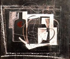 Ben Nicholson (1894-1982) Abstract Art Images, Abstract Nature, Abstract Drawings, Picasso, Post Painterly Abstraction, Abstract Painters, Mid Century Art, Still Life Art, Colorful Paintings