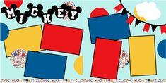 Mickey Flags scrapbook pagekit $8.00