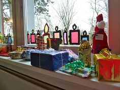 sweet window transparencies- make Advent candles and add one each Sunday??