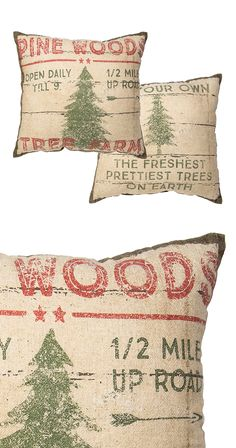 You've made it! Out of the rat race an into the big, exciting forest—or at least that's how you'll feel with this set of charming throw pillows resting on your couch or bed. Who says your living room c...  Find the Forest Entry Throw Pillow - Set of 2, as seen in the A Rustic Home for the Holidays Collection at http://dotandbo.com/collections/styleyourseason-a-rustic-home-for-the-holidays?utm_source=pinterest&utm_medium=organic&db_sku=115450