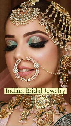 Indian Bridal Photos, Indian Bridal Makeup, Indian Wedding Jewelry, Bridal Jewelry, Bridal Makup, Bride Indian, Indian Groom, Indian Jewelry, Head Jewelry