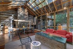 A 200-Year-Old Log Cabin That's Anything but Old-Fashioned – House of the Week. I like the large open space and windows