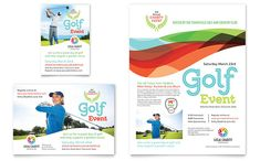 Charity Golf Event Flyer and Ad Template Design by StockLayouts