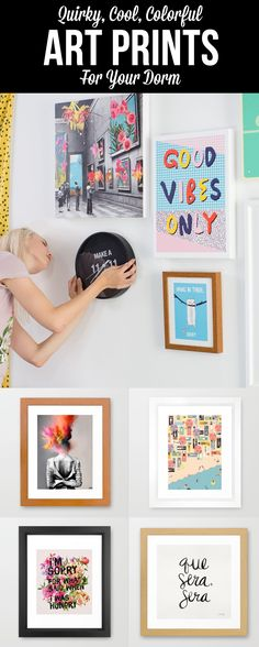 Big personality, but small space? Explore bright, colorful and quirky dorm room essentials with our Optimist Collection at Society6.com.