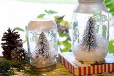 Mason Jar Crafts - 5 Ways to Make Snow Globes in Mason Jars for Christmas | #crafts #masonjars via Put it in a Jar (putitinajar.com)