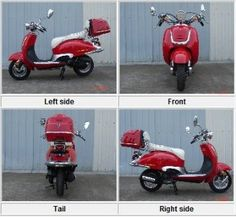 Amazon.com: Roketa MC-16C-50 RED & WHITE 49cc 4 Stroke 27mph Max Moped Scooter w/ Trunk: Sports & Outdoors Moped Scooter, Red And White, Trunks, Outdoors, Amazon, Sports, Drift Wood, Hs Sports, Amazons