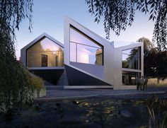 Shape-shifting house design that morphs to deal with changing times of day, seasons and weather conditions.