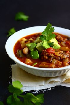 Slow Cooked Chili by thetalkingkitchen #Chili #Slow_Cooker