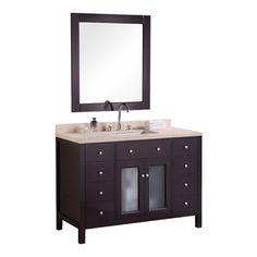 "Design Element - Design Element Venetian 48"" Modern Single Sink Vanity Set - The…"