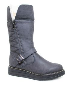 Loving this Gray Fold-Over Jojo Boot on #zulily! #zulilyfinds