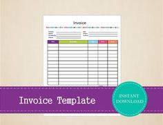 This Printable Basic Invoice Is Deep Blue Has Detailed