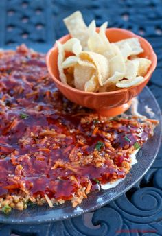 The flavors in this sweet and sour Chinese dip blend together nicely. The dip goes great with fried wontons and is sure to be a crowd pleaser.