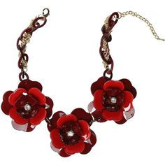 bebe Resin Flower Necklace ($44) ❤ liked on Polyvore featuring jewelry, necklaces, flower necklace, flower jewelry, resin flower necklace, bebe jewelry and blossom necklace