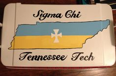 Sigma chi cooler I painted for my bf