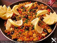 Vegane Paella, ein schmackhaftes Rezept aus der Kategorie Kochen. Bewertungen: 3. Durchschnitt: Ø 3,8.