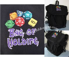 OffWorld Designs - Bag of Holding Backpack, $40.00 (http://www.offworlddesigns.com/bag-of-holding-backpack/)