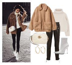 """""""instagram @Florencia95"""" by florencia95 ❤ liked on Polyvore featuring RVDK, H&M, Gucci, Jeffrey Campbell and Kenneth Jay Lane"""