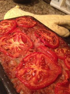 Meatloaf. Such a good healthy twist on a classic! Lots of veggies added... this recipe is a keeper!