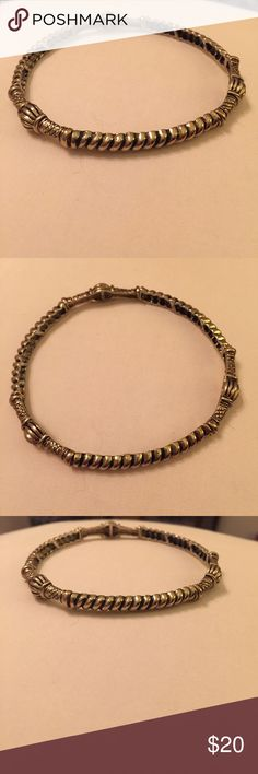 Stretchy Gold Bangle Adjustable (stretchy) gold bracelet, only worn one time. In pristine condition! Jewelry Bracelets