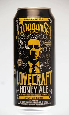 Narragansett Beer is at again, pairing up with a Rhode Island icon. But the release of Lovecraft Honey Ale isn't about an ingredient but a celebration of Providence's horror writer, H.P. Lovecraft.