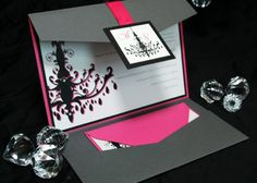 Chandelier Elegance wedding invitations