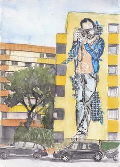 Urban Sketchers Paris: Paris 13e