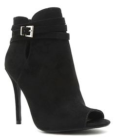 Another great find on #zulily! Black Ara Peep-Toe Pump by Qupid #zulilyfinds