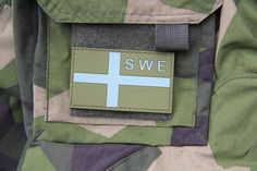 Sweden Flag OPS PVC Green Patch