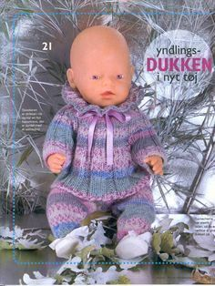 Billede: Crochet Dolls Free Patterns, Doll Sewing Patterns, Doll Clothes Patterns, Knitting Dolls Clothes, Knitted Dolls, Reborn Dolls, Baby Dolls, Baby Born Clothes, Bear Doll