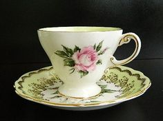 Vintage Foley Bone China Tea Cup & Saucer via Etsy