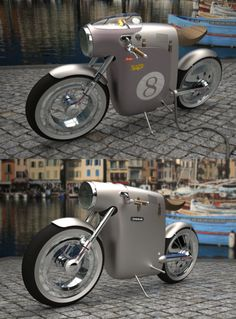 "from Inspire Me Now. If you like Art, Sculpture, Brilliant Creativity & Design, and more... You gotta visit this site! This bike is from Monocasco ( http://www.art-tic.com/monocasco.html ) concept electric bike for OSSA by ART-TIC. This and more can be found at ""Inspire Me Now""."