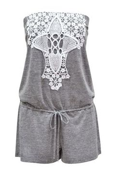 lace romper/swimsuit cover up