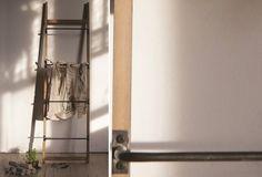 Wood And Metal Wall Rack | Towel Ladder | Ladder Drying Rack