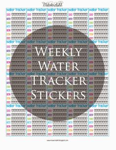 I just made these in the last hour, and had to share them! These are water trackers stickers, but instead of putting a sticker everyday you ...