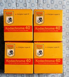 Lot 4 films super 8 KODAK KODACHROME 40 Boites scellées | eBay