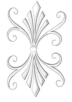 Interesting pewter design with a gem in the middle Border Pattern, Pattern Art, Pattern Design, Carving Designs, Stencil Designs, Craft Patterns, Quilt Patterns, Motif Arabesque, Metal Embossing