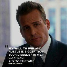 Suits is over, But these 56 Harvey Specter quotes will forever motivate you Badass Quotes, Best Quotes, Life Quotes, Harvey Spectre Zitate, Motivational Quotes For Success, Inspirational Quotes, Harvey Specter Suits, Suits Harvey, Millionaire Lifestyle