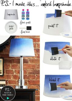 Ombre lampshade