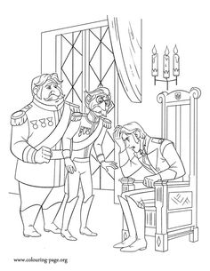 Looks Like Prince Hans Is Worried About Elsas Escape Have Fun Coloring This Amazing Disney Frozen PagesColoring
