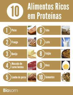 Clique na imagem e veja os 10 alimentos mais ricos em proteínas. #alimento…