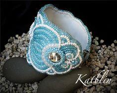 "Jewelry and accessories by Ekaterina Blinova: Браслет ""Аквамарин"""