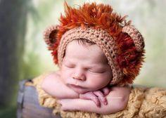 Ravelry: Lion & Lioness Baby Bonnet pattern by Crochet by Jennifer