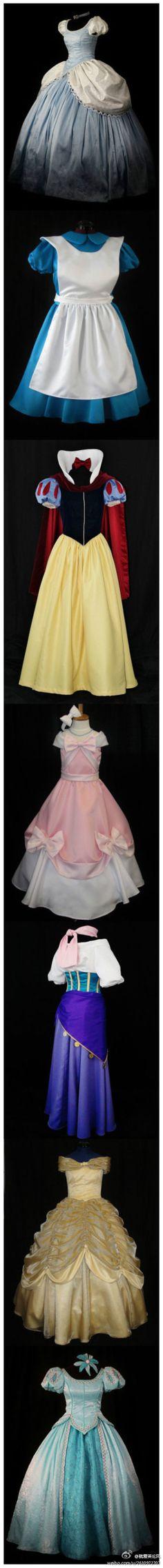 姑娘们,这是童年的梦想吗?猜得出都是哪位女主角的衣服吗~?
