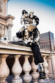 black and white jester costume and mask #Jester