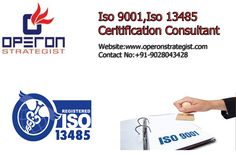 -Operon Strategist ISO 9001,ISO 13485 consultant for medical device manufacturers.  -Operon Strategist are providing ISO 13485 consulting service for medical device manufacturers.ISO 13485  is a quality system standard designed for medical device companies. The international quality management systems for the design and manufacturers of medical devices can help company stand out.
