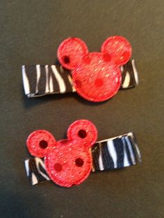 Mickey hair Clippie set by mycutesies on Etsy, $3.00