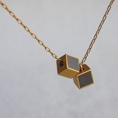 2X Cube Necklace Gold Plate by Hadas Shaham now featured on Fab.