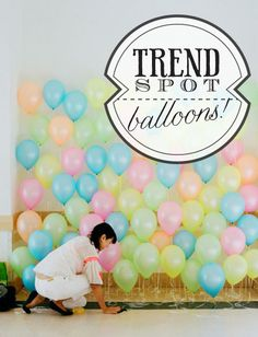 I'm just saying, a balloon wall would be great for photos at a baby shower. In two years...