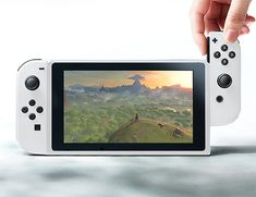Nintendo Switch  Designed in partnership with Apple, Nintendo's new Switch game system is a tablet-like portable console that features a hi-def 7-inch screen. The controllers are called JoyCons; they're removable mini remotes that slide off & onto the console. Switch uses SD card size game cartridges. Few other technical details are currently available. Ships in March 2017.