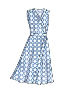 Vogue Patterns Sewing Pattern Misses' Dress and Sash Vogue Patterns, Dress Sash, Wrap Dress, Simple Dresses, Beautiful Dresses, Skirt Fashion, Fashion Outfits, Fashion Ideas, Simple Dress Pattern